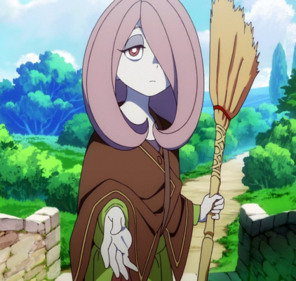 Sucy_Manbavaran_Stitched_Cap_(Little_Witch_Academia_Ep_1)