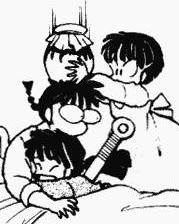 akane hits ranma in the head