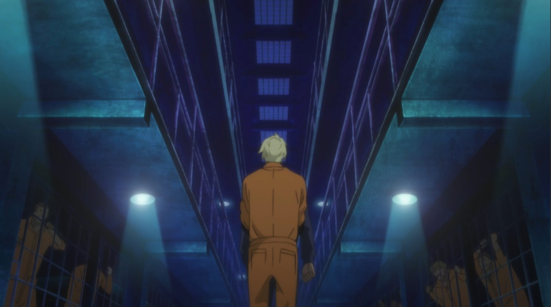 ash walking to jail