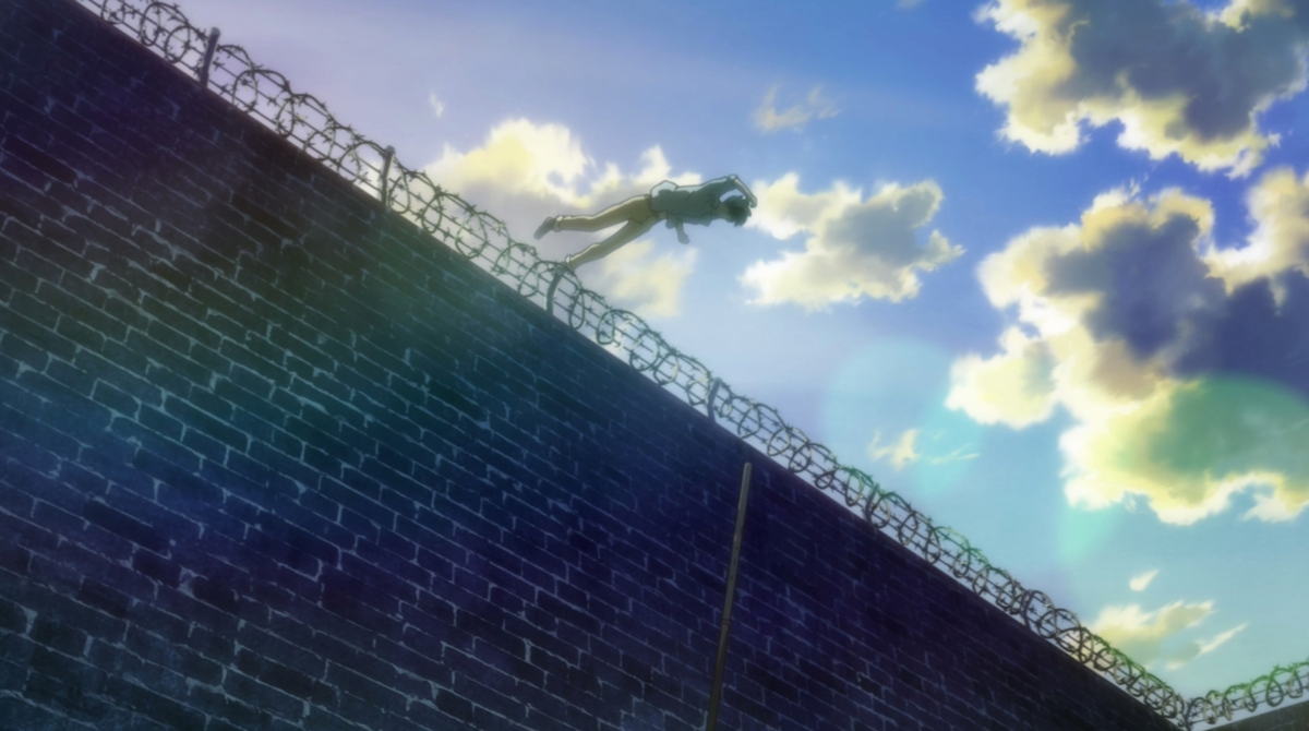 eiji flyies over lgbt colored wall