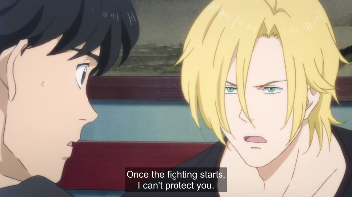 ash says once the fight starts i cant protect you to eiji.jpg