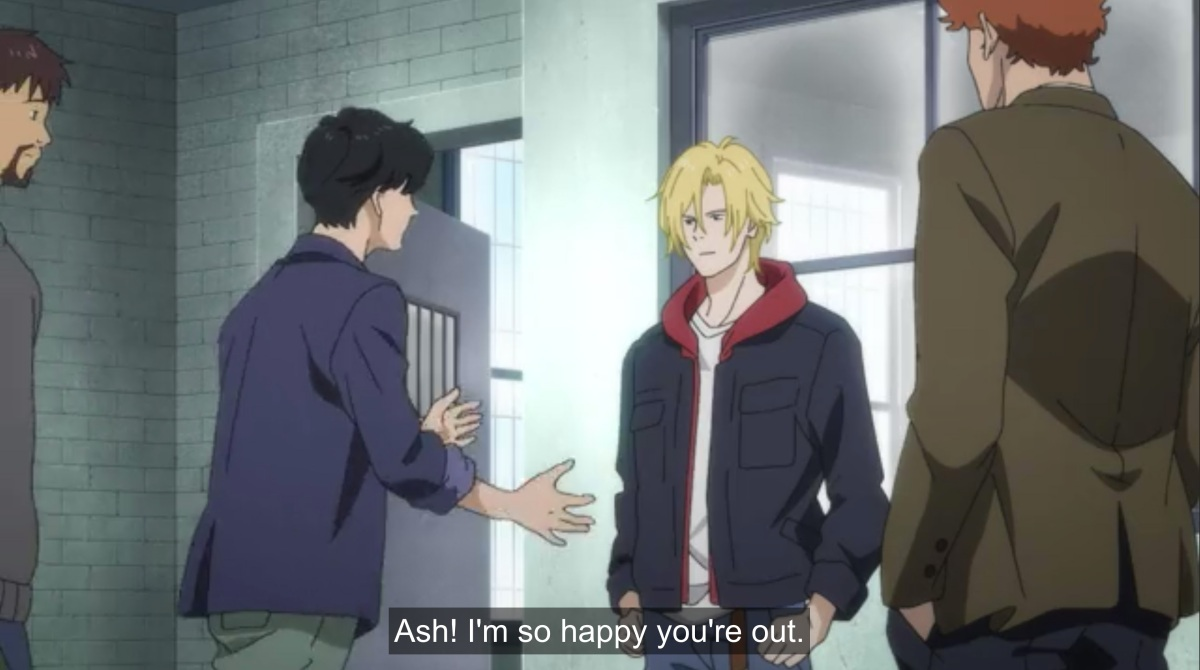 eiji says ash i'm so happy you're out