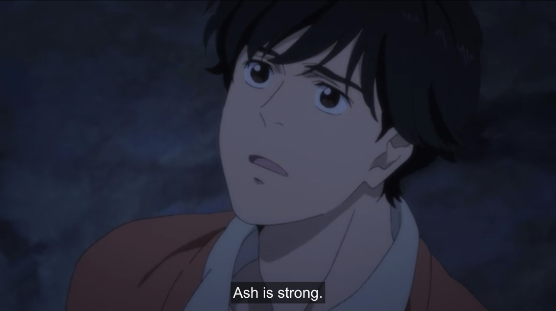 eiji says ash is strong