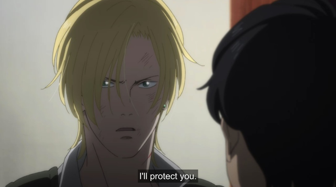 ash says i'll protect you to eiji