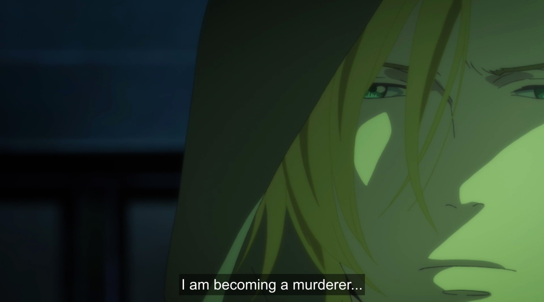 ash thinks he's becoming a murder, face covered in green.jpg