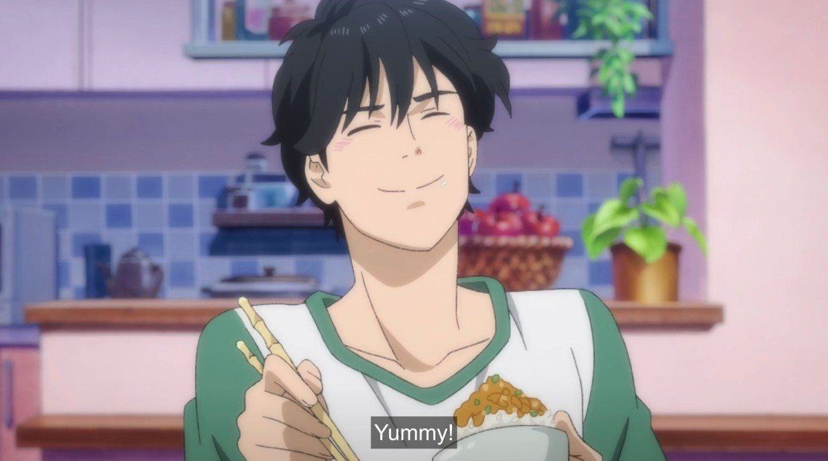eiji eating and saying yummy