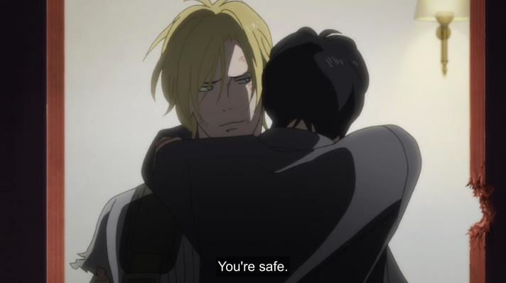 eiji hugs ash