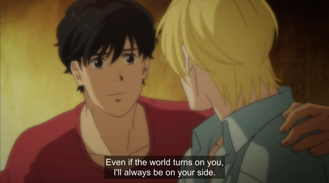eiji promises to stay with ash
