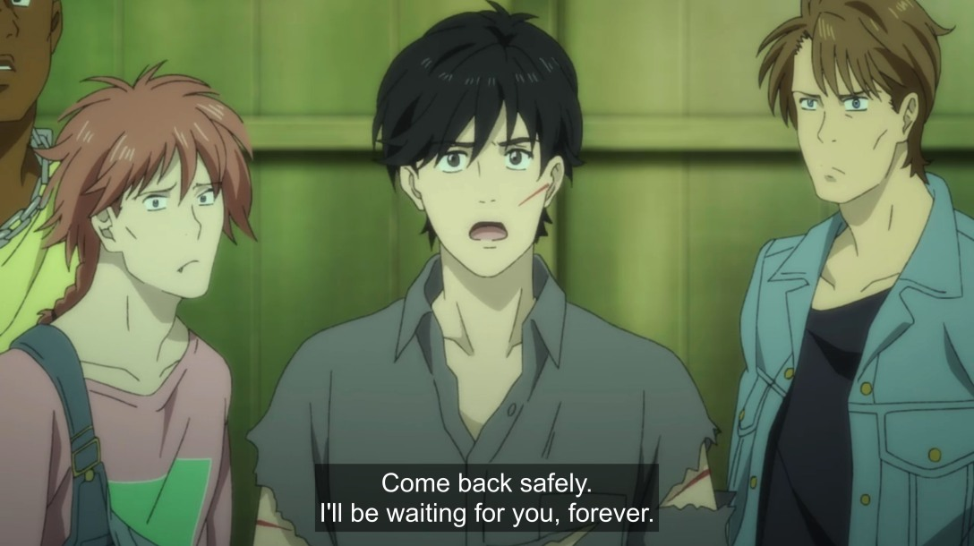 eiji tells ash he will wait forever