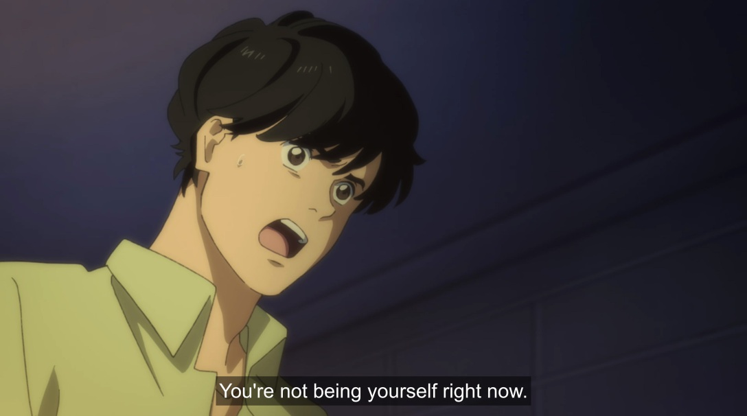 eiji tells ash he's not being himself
