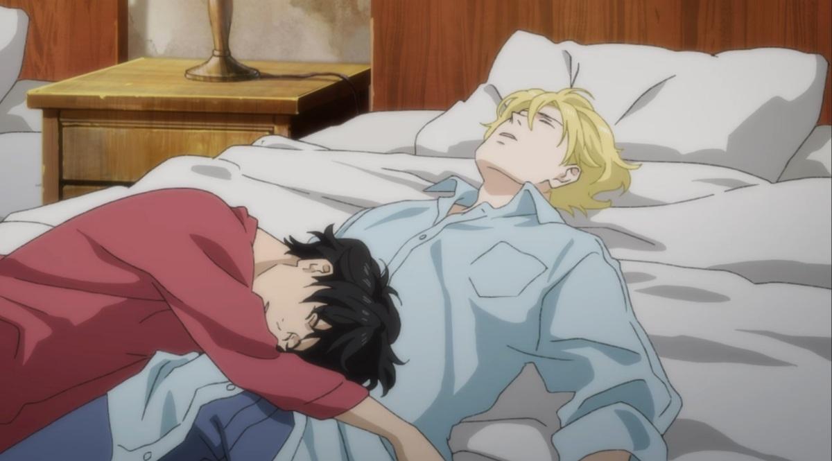ash sleeping over eiji