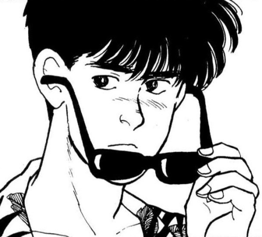manga eiji with sunglasses