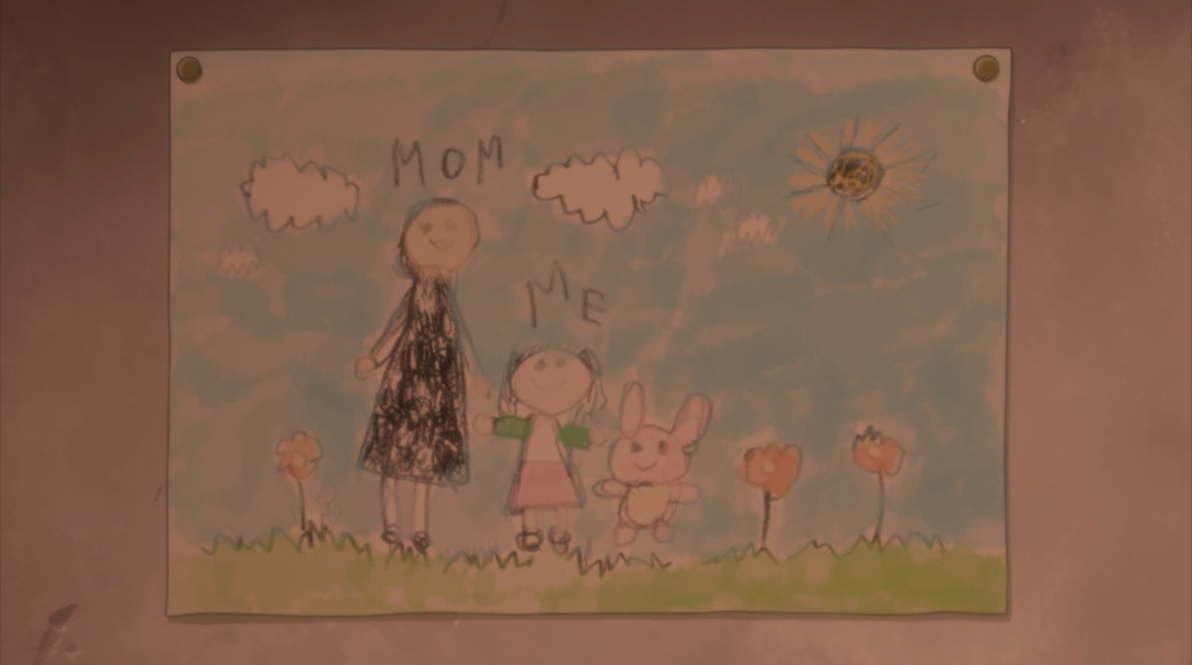 connie drawing of her mother and her
