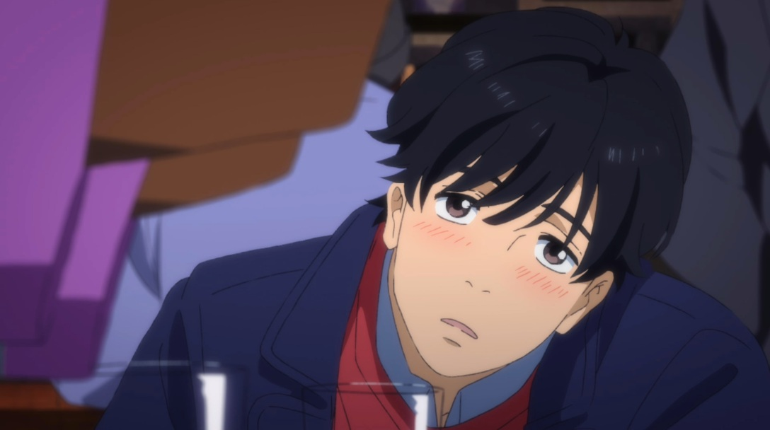eiji blushing and tilting his head
